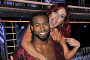 """Josh Norman and Sharna Burgess attend ABC's """"Dancing With The Stars: Athletes"""" Season 26 show on April 30, 2018 in Los Angeles, California."""