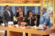 """GOOD MORNING AMERICA - Patti LaBelle is a guest on """"Good Morning America,"""" Tuesday, April 25, 2017 airing on the ABC Television Network.  .(Photo by Lorenzo Bevilaqua/ABC via Getty Images) .MICHAEL STRAHAN, ROBIN ROBERTS, PATTI LABELLE, JAMES WRIGHT"""