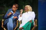 "(L-R) Robin Roberts and Patti LaBelle during ABC's ""Good Morning America"" Live From Philadelphia broadcast at the steps of the Philadelphia Art Museum on June 13, 2019 in Philadelphia, Pennsylvania."