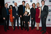 """Lee Tergesen, Suleka Mathew, Luke Goss, Goran Visnjic, Erin Moriarty, Jakob Salvati, Clifton Collins, Radha Mitchell and Sterling Beaumon  attends ABC's """"Red Widow"""" Red Carpet Event at Romanov Restaurant Lounge on February 26, 2013 in Studio City, California."""