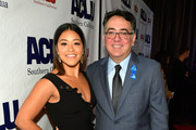 Honoree Gina Rodriguez and Hector Villagra, executive director at ACLU Southern California, attend ACLU SoCal Hosts Annual Bill of Rights Dinner at the Beverly Wilshire Four Seasons Hotel on December 3, 2017 in Beverly Hills, California.