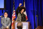 Hector Villagra, executive director at ACLU Southern California, and honoree Colin Kaepernick onstage at ACLU SoCal Hosts Annual Bill of Rights Dinner at the Beverly Wilshire Four Seasons Hotel on December 3, 2017 in Beverly Hills, California.