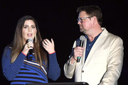 (L-R) Hillary Scott and Storme Warren speak onstage at ACM: Stories, Songs & Stars: A Songwriter's Event Benefiting ACM Lifting Lives on April 05, 2019 in Las Vegas, Nevada.