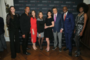 Jill Flint, Mike Woods, Teresa Priolo, Ines Rosales, Tamsen Fadal, Mr. G, Kori Chambers and Camilla Barungi pose for a photo at he ADAPT Santa Project Party Casino Night at the Down Town Association on December 03, 2019 in New York City.