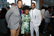 Actor Russell Hornsby (L) and TV personality Delaina Dixon (C) attend ADCOLOR Live! 2014 at One Time Warner Center on June 16, 2014 in New York City.