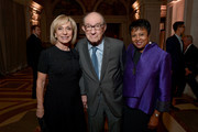 NBC News' Andrea Mitchell, Former Chairman of the Federal Reserve Alan Greenspan, and  Librarian of Congress Dr. Carla Hayden attends the AFI 50th Anniversary Gala at The Library of Congress on November 1, 2017 in Washington, DC.