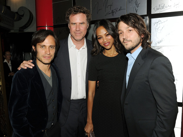 "(L-R) Executive producer Gael Garcia Bernal, actors Will Ferrell and Zoe Saldana, and director Diego Luna arrive at ""Abel"" screening during AFI FEST 2010 presented by Audi at Grauman's Chinese Theatre on November 7, 2010 in Hollywood, California."
