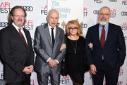 "(L-R) AFI President & CEO Bob Gazzale, Alan Arkin, Ann-Margret and AFI Director Michael Lumpkin attend the Gala Screening of ""The Kominsky Method"" at AFI FEST 2018 Presented By Audi at TCL Chinese Theatre on November 10, 2018 in Hollywood, California."