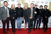 "(L-R) Jared Moshe, Margaret DeVogelaere, Peter Fonda, Dina Livingston, Bill Pullman, Tommy Flanagan, Diego Josef, and Joe Anderson attend AFI Fest's Los Angeles premiere of ""The Ballad of Lefty Brown"" on November 14, 2017 in Los Angeles, California."
