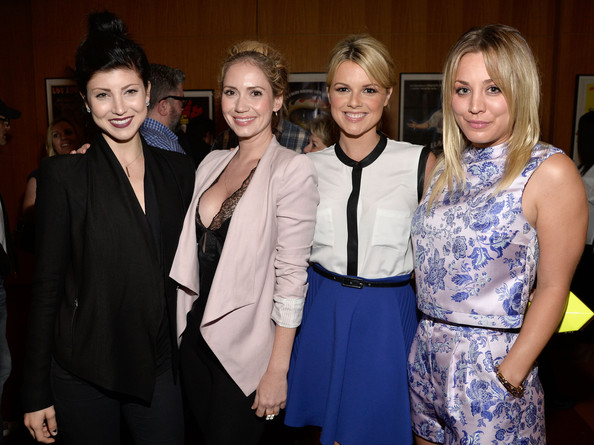 (L-R) Actresses Briana Cuoco, Ashley Jones, Ali Fedotowsky and Kaley Cuoco attend the after party for the premiere of 'Blue Jasmine' hosted by AFI & Sony Picture Classics at AMPAS Samuel Goldwyn Theater on July 24, 2013 in Beverly Hills, California.
