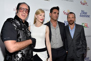 (L-R) Actors Andrew Dice Clay, Cate Blanchett, Bobby Cannavale and Peter Sarsgaard arrive at the premiere of 'Blue Jasmine' hosted by AFI & Sony Picture Classics at AMPAS Samuel Goldwyn Theater on July 24, 2013 in Beverly Hills, California.