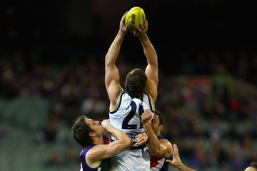 Luke McPharlin Antoni Grover AFL 2nd Semi Final - Cats v Dockers