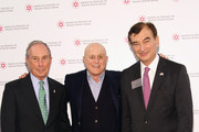 (L-R)   Former Mayor of New York City, Presenter Michael Bloomberg, Honoree, 2015 AFMDA Humanitarian Award Ronald O. Perelman and AFMDA Chairman, Dinner Chair Mark Lebow attend AFMDA Red Star Gala at The Grand Hyatt New York on December 2, 2015 in New York City.