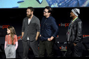 (L-R) Cailey Fleming, Josh McDermitt, Seth Gilliam, and Ross Marquand speak onstage during a panel for AMC's The Walking Dead Universe including AMC's flagship series and the untitled new third series within The Walking Dead franchise at Hulu Theater at Madison Square Garden on October 05, 2019 in New York City.