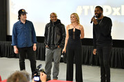 Josh McDermitt, Seth Gilliam, Kim Dickens and Colman Domingo attend the AMC Survival Sunday The Walking Dead/Fear the Walking Dead at AMC Empire on April 15, 2018 in New York City.