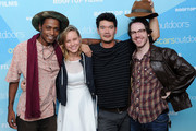 (L-R) Keith Stanfield, Brie Larson, Destin Cretton and John Gallagher attend AMPAS And Rooftop Films Special Screening Of 'Short Term 12' at Old American Can Factory on July 20, 2013 in New York City.