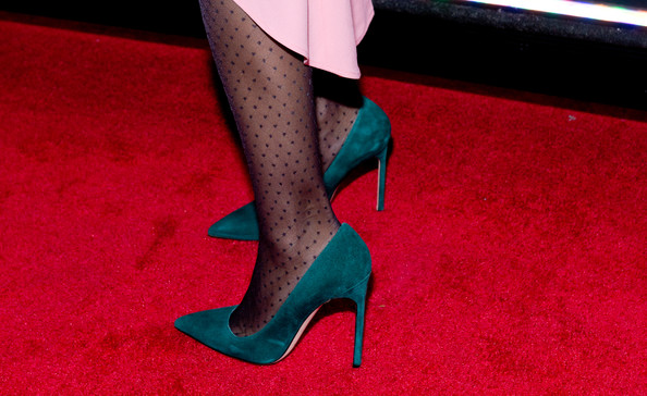 Executive producer Sarah Jessica Parker (shoe detail) attends AOL On's 'city.ballet' series premiere at Tribeca Cinemas on November 4, 2013 in New York City.