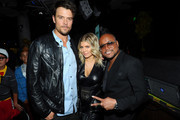(L-R) Actor Josh Duhamel, singer Fergie and Apl.de.Ap attend APL.De.Ap's Birthday Celebration and Launch of Charity Dreams at The Conga Room at L.A. Live on December 13, 2011 in Los Angeles, California.