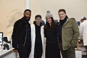 Duane McClaughlin, Daniel Arsham, Zuleikha RobinsonÊ and Greg Calejo attend ART MAISON x Bentley Motors Event At Arsham Studio In New York City on December 22, 2017 in New York City.