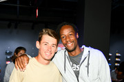 Alexander de Minaur (L) and Gael Monfils attend the ASICS Tennis 5th Avenue Flagship Event on August 23, 2019 in New York City.