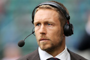 Former Toulon player Jonny Wilkinson looks on during the European Rugby Champions Cup Final match between ASM Clermont Auvergne and RC Toulon at Twickenham Stadium on May 2, 2015 in London, England.