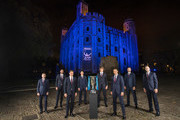 The WorldÕs top eight players attend the 2017 Nitto ATP Finals Official Launch, presented by Moet & Chandon, at the Tower of London. (L-R) David Goffin of Belgium, Marin Cilic of Croatia, Roger Federer of Switzerland, Dominic Thiem of Austria, Alexander Zverev of Germany, Rafael Nadal of Spain, Grigor Dimitrov of Bulgaria and Jack Sock of USA pose for a group photo during the The Official Launch ATP Finals at Tower of London on November 9, 2017 in London, England.