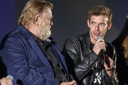 Actors Brendan Gleeson and Harry Treadaway on stage at a FYC Screening of Mr. Mercedes at Hollywood Forever on April 15, 2018 in Hollywood, California.
