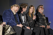 Actors Brendan Gleeson, Harry Treadaway, Kelly Lynch and director Jack Bender on stage at a FYC Screening of Mr. Mercedes at Hollywood Forever on April 15, 2018 in Hollywood, California.