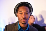 Rapper Chingy poses at the How Emotions Predict The Virality of Videos panel presented by Virool during Advertising Week 2015 AWXII at the ADARA Stage at Times Center Hall on September 29, 2015 in New York City.