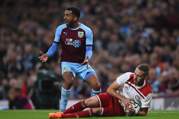 Aaron Lennon Burnley vs. Olympiakos - UEFA Europa League Qualifing Play-Off: Second Leg