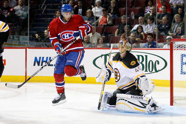 Aaron Palushaj - Boston Bruins v Montreal Canadiens