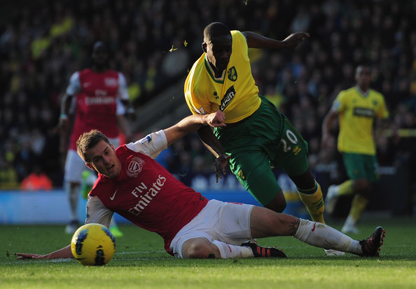 Aaron ramsey pictures norwich city v arsenal premier for Mcdonalds norwich ny