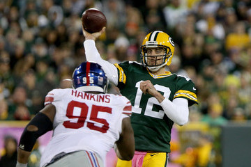 Aaron Rodgers New York Giants v Green Bay Packers