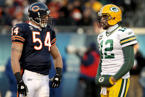 Zimbio Photos 2011 Championship V Chicago - And Urlacher Bears Green Packers Rodgers Nfc Aaron Brian Bay