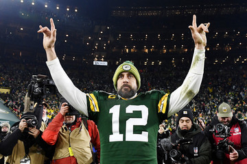 Aaron Rodgers Divisional Round - Seattle Seahawks vs Green Bay Packers