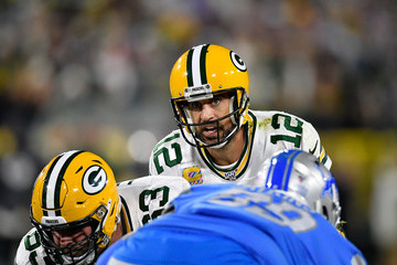 Aaron Rodgers Detroit Lions v Green Bay Packers