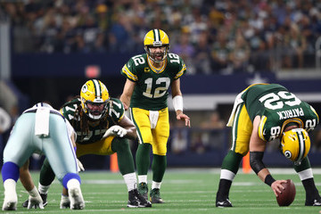 Aaron Rodgers Green Bay Packers vs Dallas Cowboys