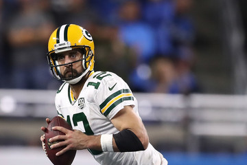 Aaron Rodgers Green Bay Packers vs. Detroit Lions