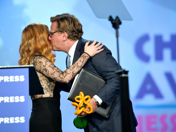 29th Annual Palm Springs International Film Festival Awards Gala - Awards Presentation [interaction,event,fun,kiss,hug,gesture,premiere,aaron sorkin,jessica chastain,palm springs international film festival awards gala - awards presentation,palm springs convention center,california]