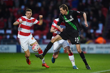 Aaron Taylor-Sinclair Doncaster Rovers v Stoke City - The Emirates FA Cup Third Round