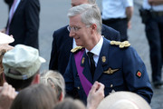 Prince Philippe of Belgium is seen in front of the Cathedral of St Michael and Saint Gudula prior to the Abdication Of King Albert II Of Belgium, & Inauguration Of King Philippe on July 21, 2013 in Brussels, Belgium.