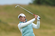 Yani Tseng of Taiwan plays her second shot to the 11th hole during the first day of the Aberdeen Asset Management Ladies Scottish Open at Dundonald Links Golf Course on July 27, 2017 in Troon, Scotland.