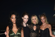Chanel Iman, Coco Rocha, Taylor Schilling and Erin Heatherton attend All Aboard! as W Hotels toasts the upcoming opening of W Amsterdam with 'Captains' Taylor Schilling, Erin Heatherton, Chanel Iman, Coco Rocha and more on the Grand Banks on August 18, 2015 in New York City.