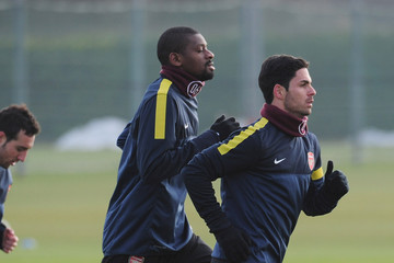 Abou Diaby Arsenal Training Session & Press Conference