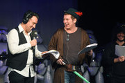 Christian O'Donnell and Shane Richie perform at the annual Absolute Radio Pantomime at Leicester Square Theatre on December 18, 2015 in London, England.