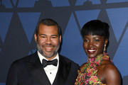 (L-R) Jordan Peele and Lupita Nyong'o attend the Academy Of Motion Picture Arts And Sciences' 11th Annual Governors Awards at The Ray Dolby Ballroom at Hollywood & Highland Center on October 27, 2019 in Hollywood, California.