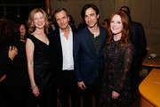 """(L-R) AMPAS CEO Dawn Hudson, producer David Heyman and actress Julianne Moore attend The Academy of Motion Picture Arts and Sciences """"2019 New Members Party"""" at the Top of the Standard in New York on October 1, 2019 in New York City."""