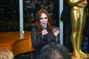 Julianne Moore attends The Academy Of Motion Picture Arts & Sciences 2019 New Members Party on October 01, 2019 in New York City.