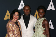 (L-R) Director Mira Nair and actors David Oyelowo and Lupita Nyong'o attend the Academy of Motion Picture Arts and Sciences' 8th annual Governors Awards at The Ray Dolby Ballroom at Hollywood & Highland Center on November 12, 2016 in Hollywood, California.