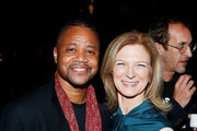 Actor Cuba Gooding Jr. and AMPAS CEO Dawn Hudson attend The Academy of Motion Picture Arts and Sciences 2018 New Members Party at Top of the Rock's 620 Loft and Garden on October 1, 2018 in New York City.